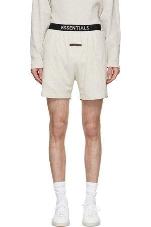 Essentials Off-White Logo Lounge Shorts