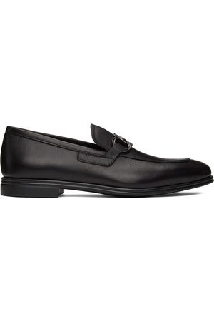 Salvatore Ferragamo Black Scarlet Moccasin Loafers