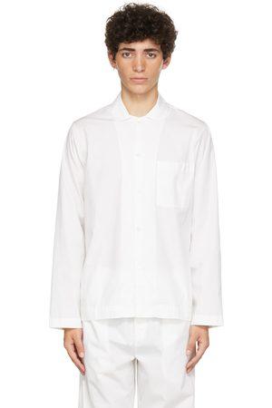 Tekla White Poplin Pyjama Shirt
