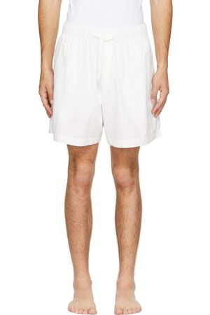Tekla White Poplin Pyjama Shorts