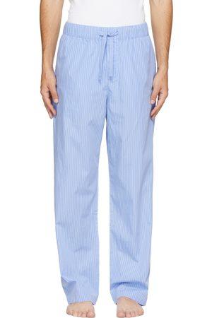 Tekla Blue & White Poplin Striped Pyjama Pants