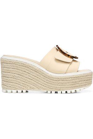 Sam Edelman Women Wedges - Livi Wedge Leather Sandals
