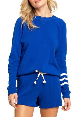 SOL ANGELES Women's Essential Fleece Pullover - Cobalt - Size Large