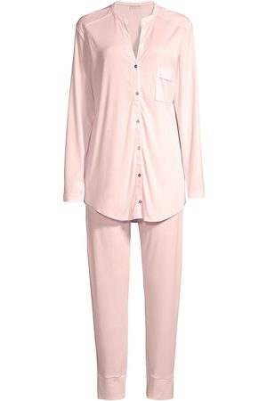 Hanro Women's 2-Piece Draped Pajama Set - Rosewater - Size Small