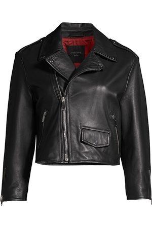 Max Mara Women's Tivoli Leather Jacket - - Size 2