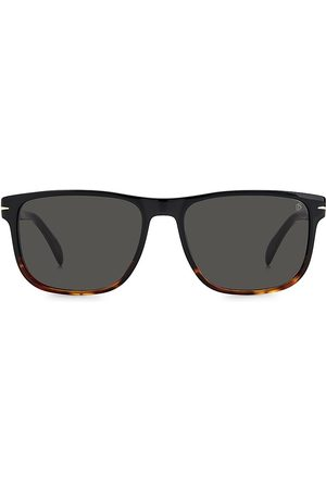 David beckham Men's 57MM Polarized Rectangle Sunglasses - Horn