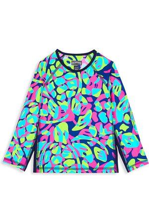 Vilebrequin Little Kid's & Kid's Neon Turtle Long-Sleeve Rashguard - Bleu Marin - Size 10