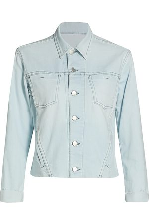 L'Agence Women's Janelle Slim Raw-Hem Jacket - Bleach Down - Size Small