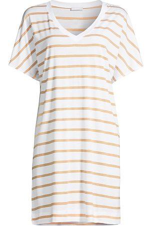 Hanro Women's Laura Striped Sleepshirt - Sunny Stripe - Size XS