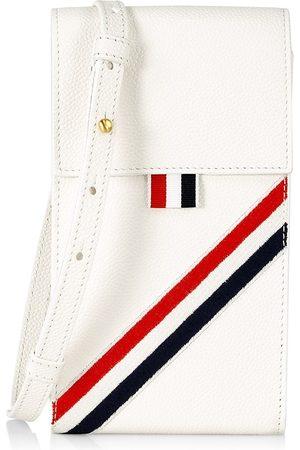 Thom Browne Men Phones Cases - Men's Leather Crossbody Phone Case