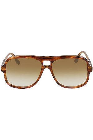 Victoria Beckham Flat Navigator Sunglasses in