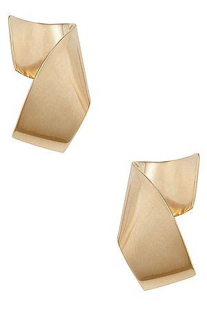 FAY ANDRADA Siipi Large Earrings in Metallic Gold