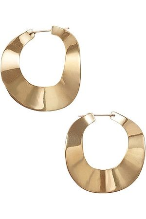FAY ANDRADA Kaiku Small Hoop Earrings in Metallic Gold