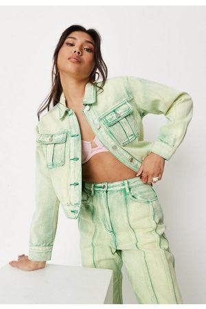 Missguided Women Denim Jackets - Co Ord Bleached Seam Denim Jacket