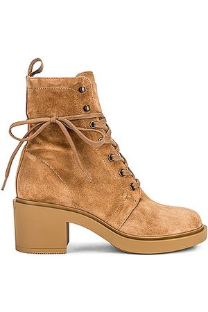 Gianvito Rossi Foster Suede Lace Up Boots in
