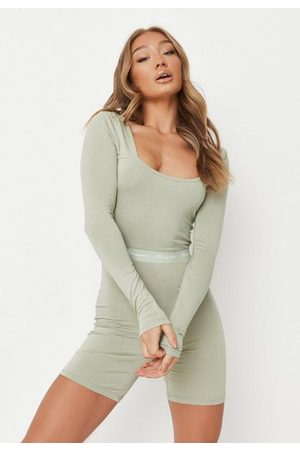 Missguided Women Sweats - Sage Waistband Loungewear Romper