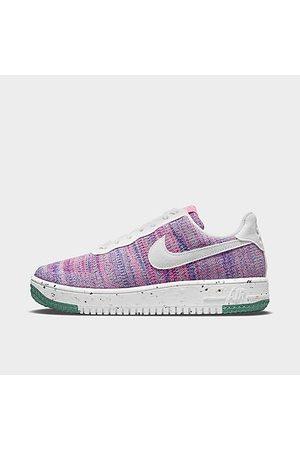 Nike Women Casual Shoes - Women's Air Force 1 Crater Flyknit Casual Shoes in Purple/Fuchsia Glow Size 7.5 Knit/Linen