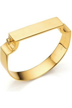 Monica Vinader Bracelets - Gold Signature Wide Bangle