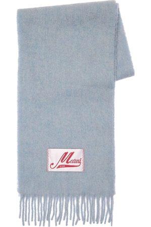 Marni Women Scarves - Alpaca Blend Fringed Scarf W/logo Patch