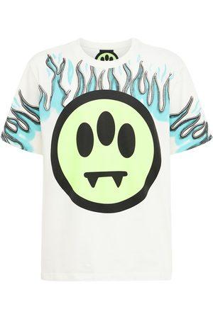 BARROW Flame Logo Printed Cotton Jersey T-shirt