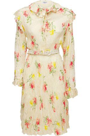 Balenciaga Asymmetric Silk Jacquard Dress