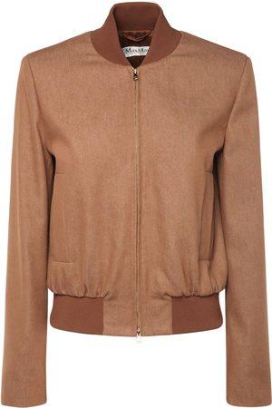 Max Mara Preston Cotton Blend Bomber Jacket