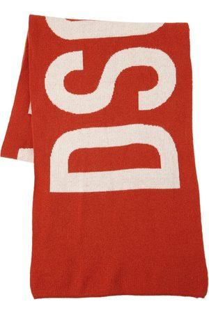 Dsquared2 Logo Wool Knit Scarf