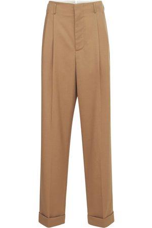 Marni Wool Gabardine Straight Leg Trousers
