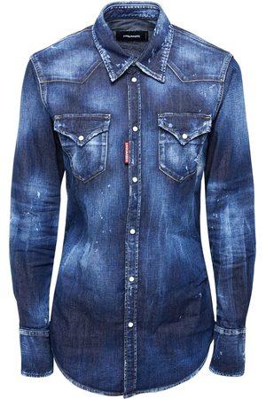 Dsquared2 Dark Western Stretch Cotton Shirt