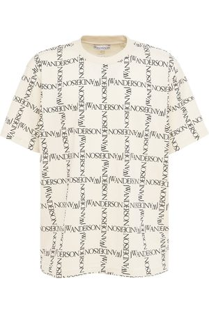 J.W.Anderson Over Logo Grid Print Jersey T-shirt