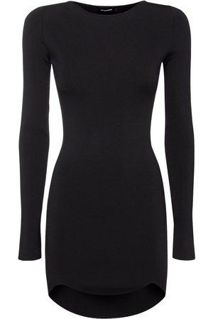 Dsquared2 Viscose Blend Knit Bodycon Mini Dress