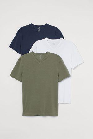 H&M Men T-shirts - 3-pack Slim Fit T-shirts