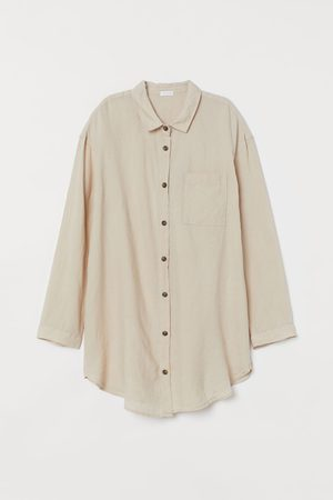 H&M Washed Linen Nightshirt