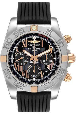 Breitling 18K Rose Gold And Stainless Steel Chronomat Evolution CB0110 Men's Wristwatch 45 MM