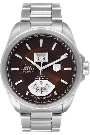 Tag Heuer Stainless Steel Grand Carrera Grand Date GMT WAV5113 Men's Wristwatch 42.5 MM