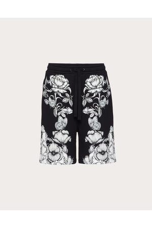 VALENTINO Cotton Bermuda Shorts With Dark Blooming Print Man / Cotton 100% L