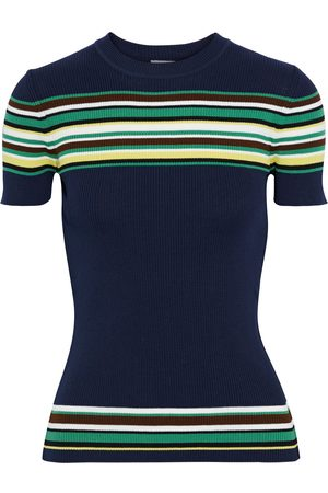 M Missoni Women Tops - Woman Striped Cotton Top Midnight Size 38