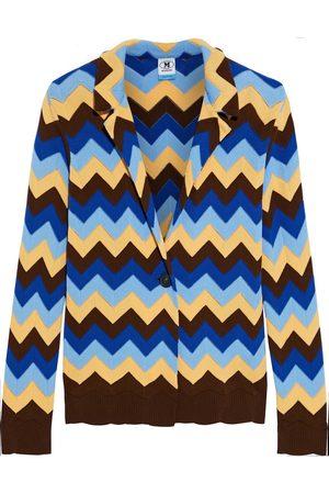 M Missoni Women Blazers - Woman Crochet-knit Cotton Blazer Size 40