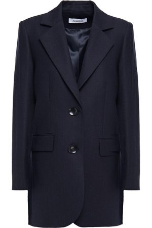 Rodebjer Women Blazers - Woman Violante Brushed Wool-blend Twill Blazer Navy Size L