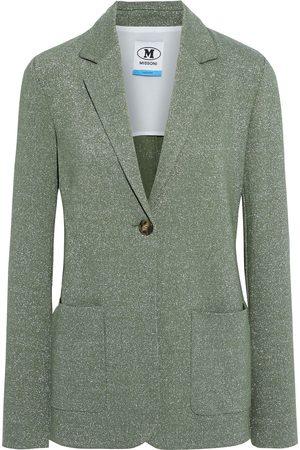 M Missoni Women Blazers - Woman Metallic Knitted Blazer Leaf Size 38