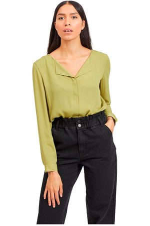 VILA Lucy Long Sleeve Shirt L Olive