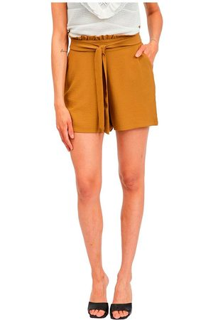 VILA Rasha High Waist Shorts 34 Butternut