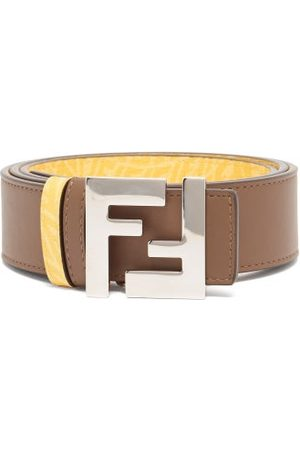 Fendi Ff-vertigo Reversible Leather Belt - Mens