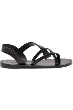 Saint Laurent Pepe Leather Sandals - Mens