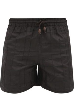 SMR Days High-cut Check-embroidered Silk Shorts - Mens