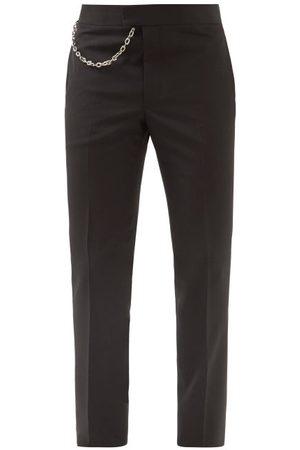 Givenchy Men Skinny Pants - Chain-embellished Wool Slim-leg Trousers - Mens