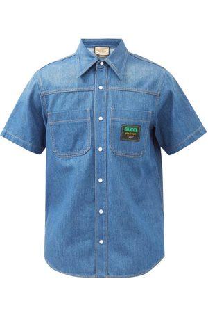 Gucci Logo-patch Denim Shirt - Mens