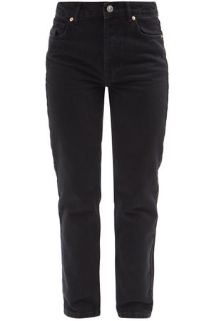 Raey Track Organic-cotton High-rise Straight-leg Jeans - Womens