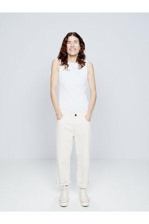 Raey Dad Organic-cotton Baggy Boyfriend Jeans - Womens - Ivory