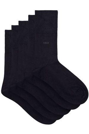 CDLP Pack Of 5 Bamboo-blend Jersey Socks - Mens - Navy